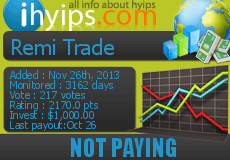 Monitored by Ihyips.com- The Best HYIP & AutoSurfs Monitoring